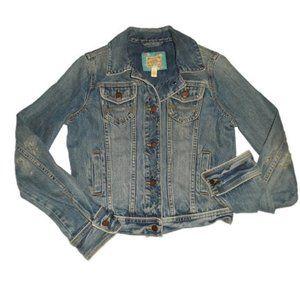 Vintage Abercrombie & Fitch Denim Jacket Blue Dist